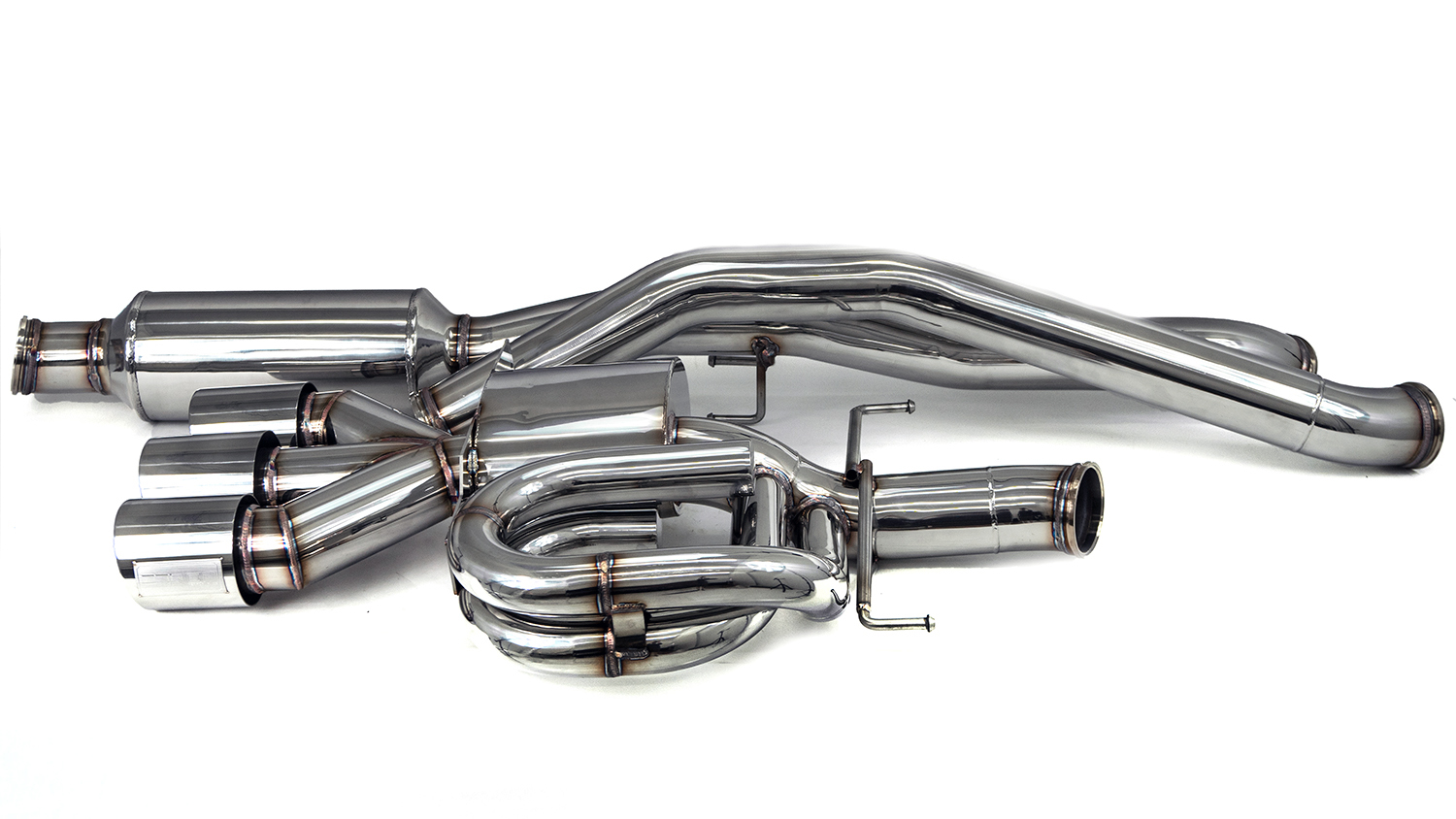 100% T304 Stainless Steel from downpipe to tips