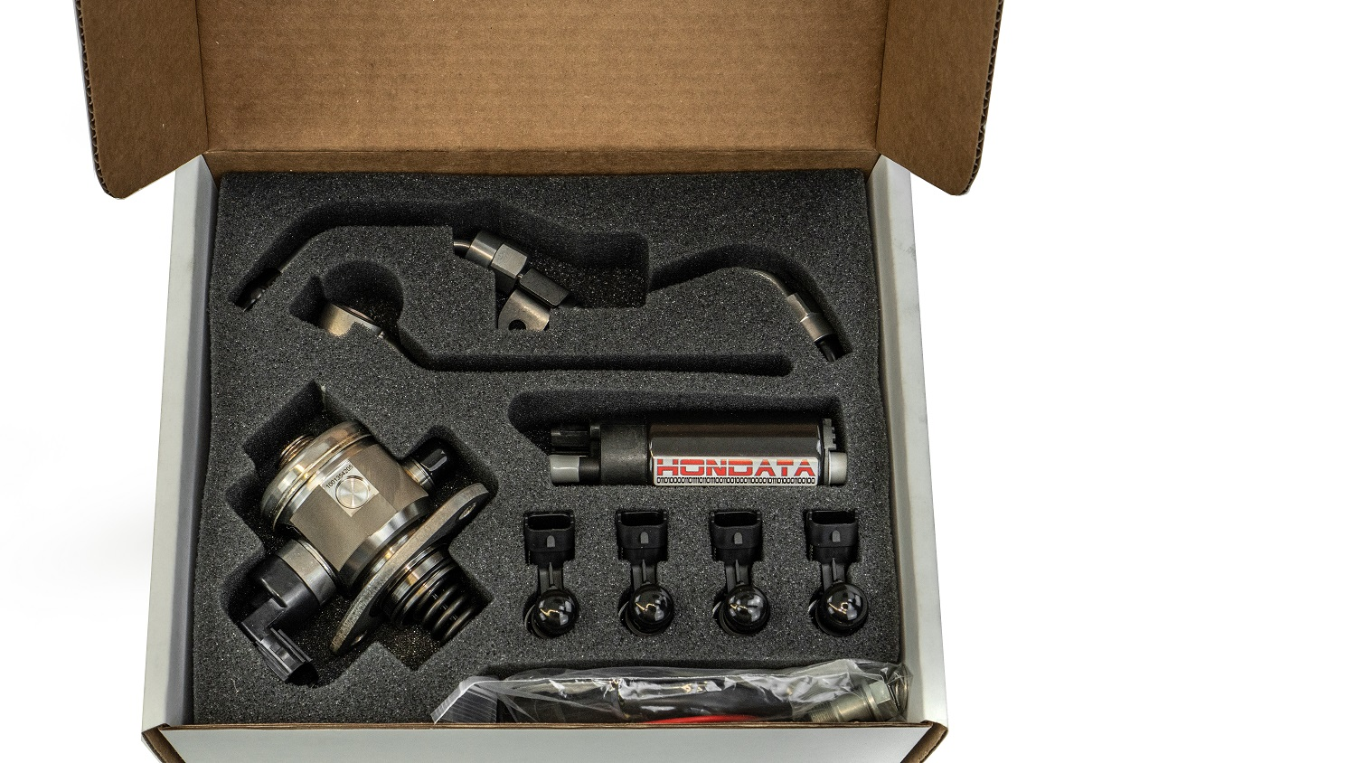 The kit comes with the all pumps, injectors, lines, and fittings needed to bump up power figures on your CTR