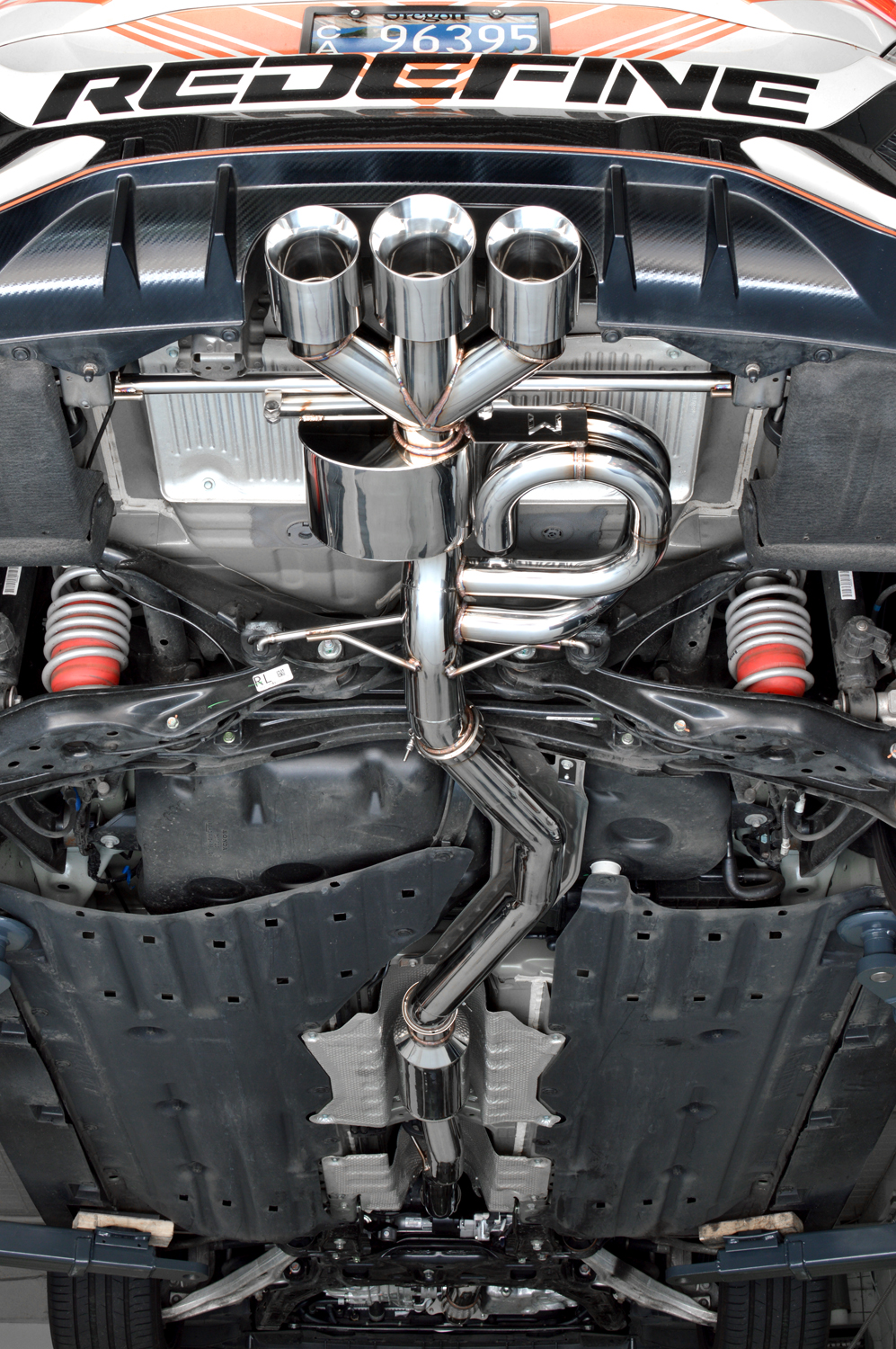 The largest Type R exhaust on the market. 80mm from end to end, no step downs. Even comes with a front-pipe.
