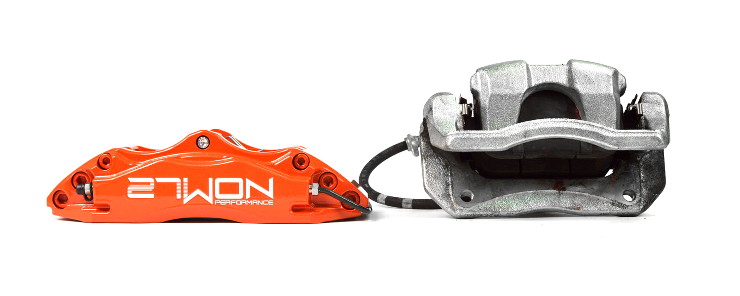 High performance and lighter weight compared to the SI OEM brake caliper