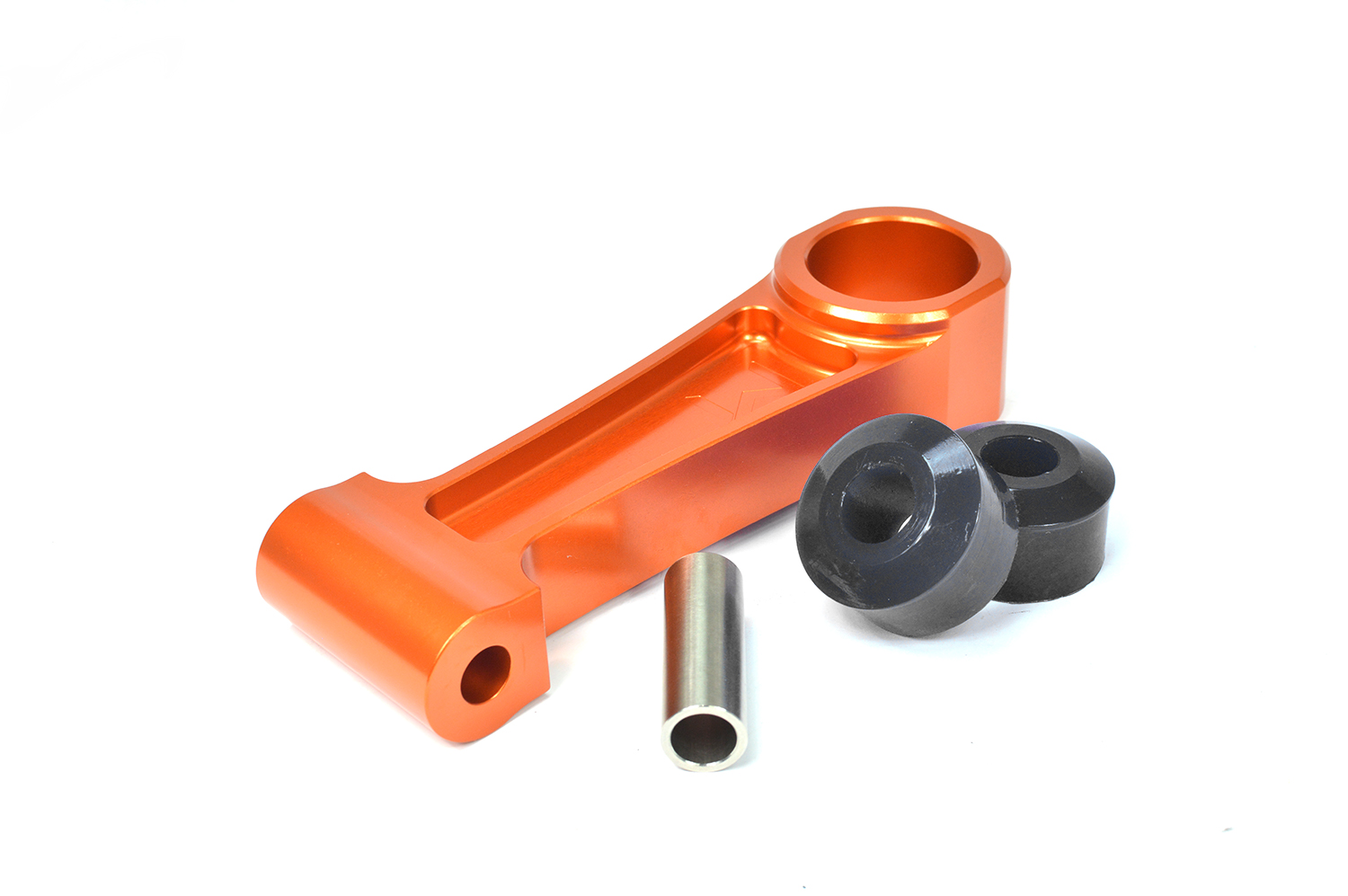 Stainless steel sleeve is used inside the polyurethane pucks for superior corrosion resistance and strength